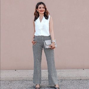 CABI HOUNDSTOOTH TROUSERS- BLOGGER FAVORITE 💕